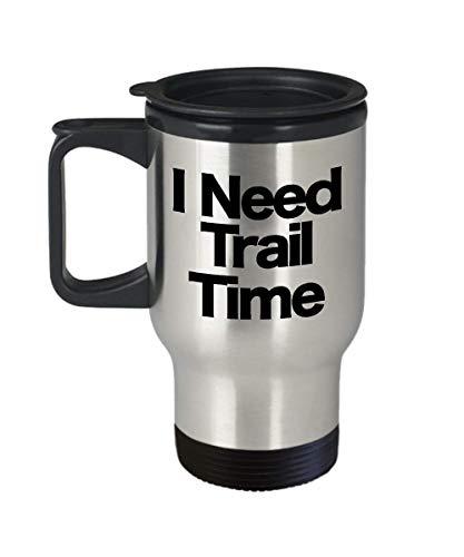 Trail Mug Travel Coffee Cup Funny Gift for Hiker Horseback Riding Dirt Mountain Bike Boss Appalachian Oregon Happy Ozark