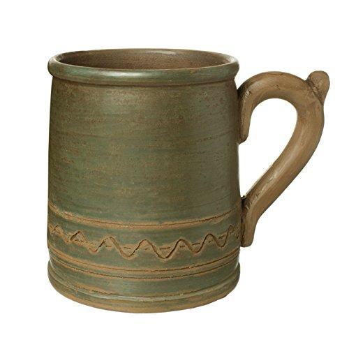 Handmade Ceramic Mug Clay Cup with Handle 12oz Multicolor Natural Earthenware Eco Friendly Tea Coffee Lead Free Pottery Handcrafted Green Semin Mug