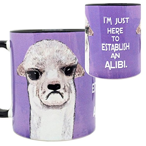 Alibi Llama Mug by Pithitude - One Single 11oz Black Coffee Cup