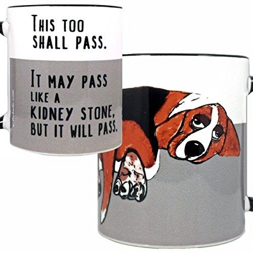 Basset Hound Beagle Mug by Pithitude - One Single 11oz Black Coffee Cup