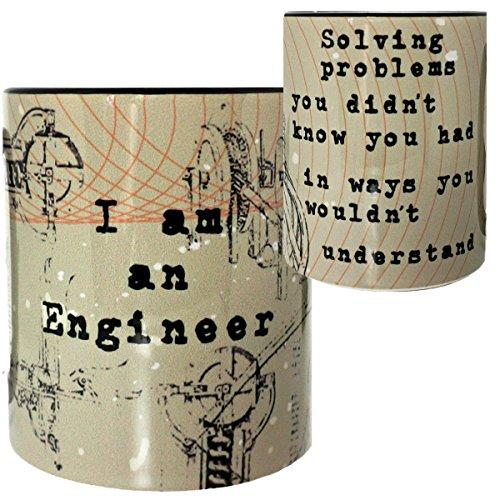 Engineer Mug by Pithitude - One Single 11oz Black Coffee Cup