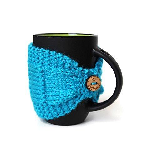 Knitted Mug Cozy Mug Cozy Coffee Cup Cozy Mug Sleeve Tea Mug Cozy Mug Jacket Hot Drink Cozy Turquoise Cozy Knitted Drink Sleeve