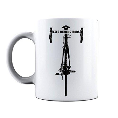 Printed Mug and Coffee Cups Life Behind Bars Road Cycling Funny Mugs Novelty Gift Idea