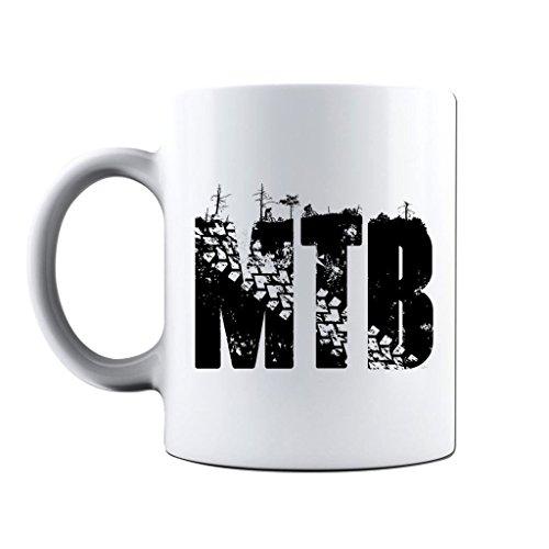 Printed Mug and Coffee Cups MTB Mountain Bike Funny Mugs Novelty Gift Idea