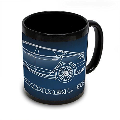 Tesla Model S Black Coffee Mug
