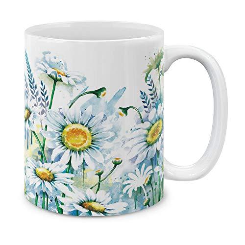 MUGBREW 11 OZ Coffee Mug Flowers Plants Garden Variety Designs Daisies Flowers