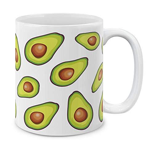 MUGBREW 11 OZ Coffee Mug Fruits Vegetables Kitchenware Designs Avocados Pattern