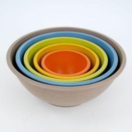 Bamboo Nesting Mixing Bowls -set Of 5