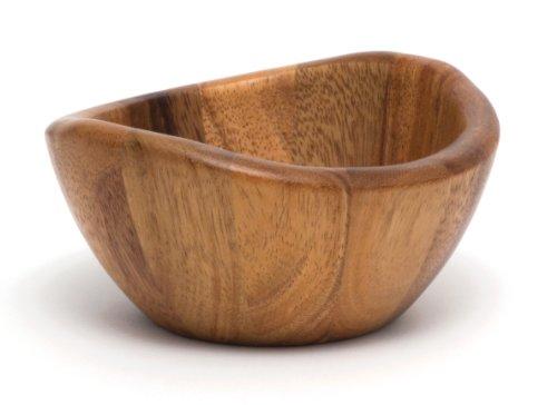Lipper International Small Wavy Bowl, Acacia