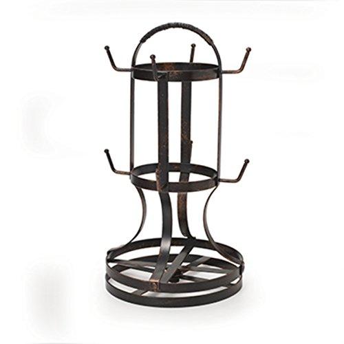 Gourmet Basics by Mikasa 5158729 Metal Rotating 8-Cup Mug Tree Antique Black