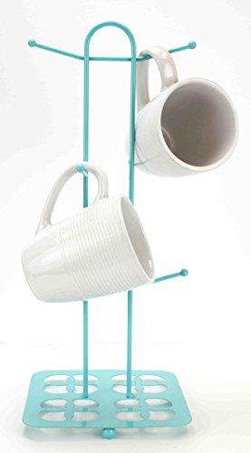 Home Basics Trinity Collection Pantryware Organization Set Turquoise Mug Tree
