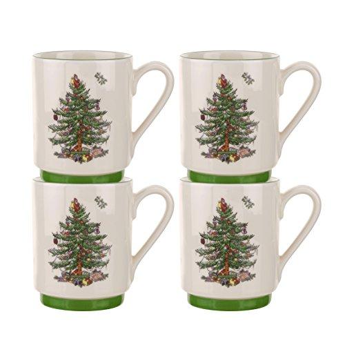 Spode Christmas Tree Stacking MugsSet of 4