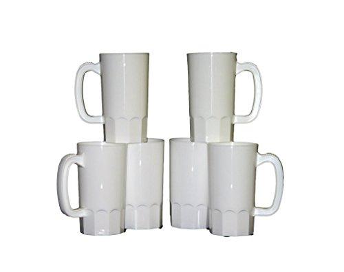 Talisman Small Plastic Mug 14 Ounces Pack 10 White