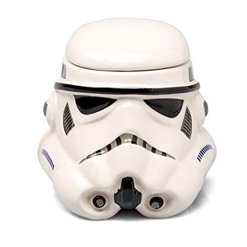 Star Wars Mug - Stormtrooper Helmet 3D Ceramic Coffee Mug with Removable Lid - 20-oz