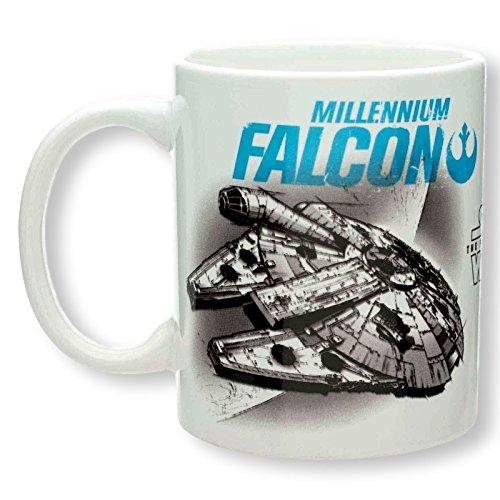 Zak Designs Character Ceramic Mug 115 OZ Star Wars Millennium Falcon and TIE Fighter