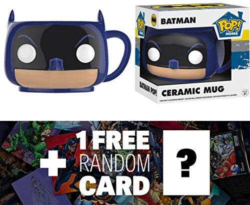 Batman Funko POP Home x Batman Mugs  1 FREE Official DC Trading Card Bundle 21708