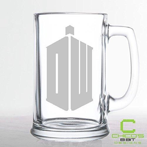 Doctor Who - Phone Booth  Tardis - Etched Beer Mug