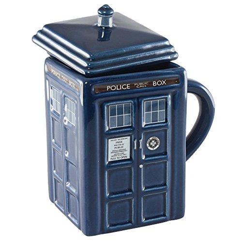 LANDUSA Doctor Who 17 Oz Figural Tardis Porcelain Mug Coffee Cup Police Box Shape