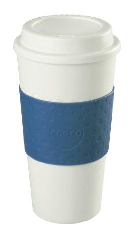 Copco 2510-9966 Acadia Double Wall Insulated Travel Mug with Non-Slip Sleeve 16-Ounce Blue