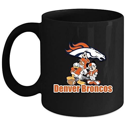 Denver Broncos Mickey Mouse Mug I Love Christmas Mug Football Team Mug Coffee Mug 15 Oz - Black