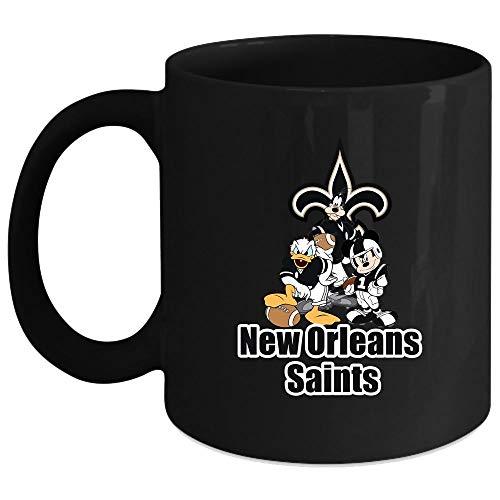 New Orleans Saints Mickey Mouse Mug Merry Christmas Mug Sport Mug Coffee Mug 15 Oz - Black