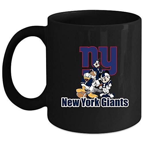 New York Giants Mickey Mouse Mug Merry Christmas God Bless America Mug Coffee Mug 11 Oz - Black