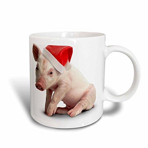 3dRose Christmas Pig Mug 15-Ounce