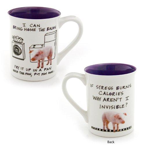Enesco Hoots N Howlers Pig Mug 16-Ounce