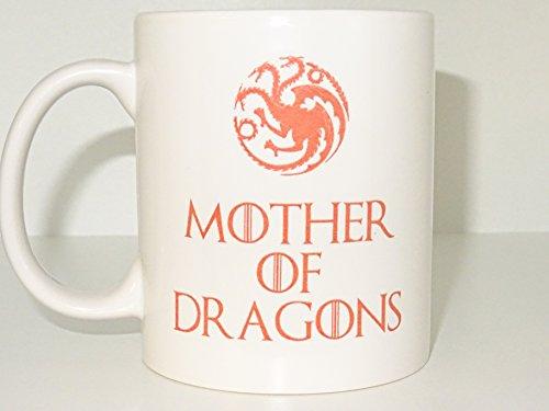 Khaleesi Mug Mother of dragons Mug game of thrones Funny mug Novelty mug Porcelain mug Personalized mug White mug Coffee Coffe cup printing mug