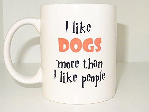i like dogs Mug 2  Funny mug Cool mug Novelty mug Ceramic mug Personalized mug White mug Coffee Coffe cup printing mug