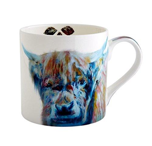 Fairmont and Main Julie Steel Designs 380ml Watercolour Highland Cow Mug