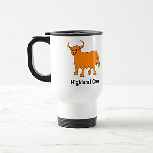 Zazzle Scottish Highland Cow Mug with Slogan White TravelCommuter Mug 15 oz