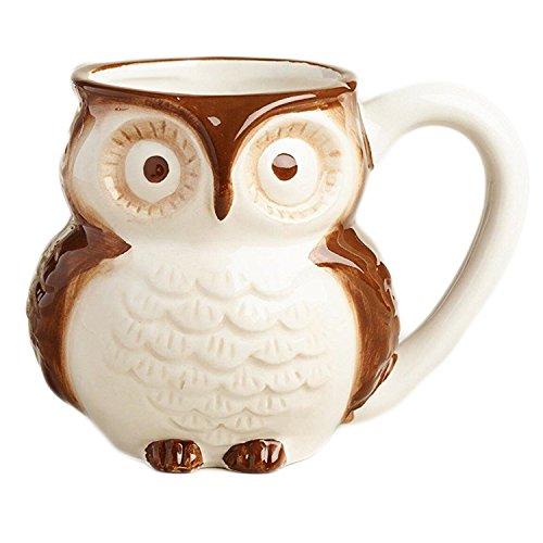 Brown Surprise Owl Coffee Mug with Baby Owl Inside