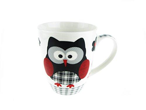 Funny Mug - Cartoon Night Owl Coffee Mug - 14 OZ - Inspirational Gifts for Friends