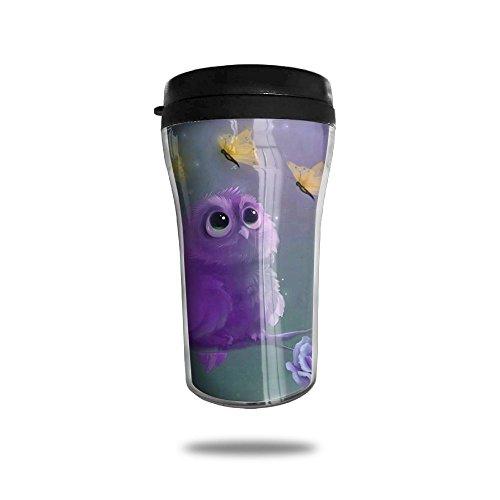 Purple Owl Coffee Mug Mini Travel Coffee Mug Funny Coffee Cup 250 ML