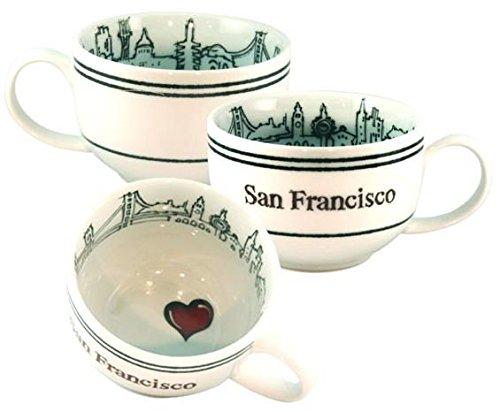 I Left My Heart in San Francisco 24 oz CappuccinoSoup Mug