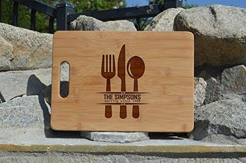 Family name Personalized Wooden Cutting Board -Fancy Custom Cutting Board - Housewarming Gift Wedding Gift Personalized Gift Gift for mom