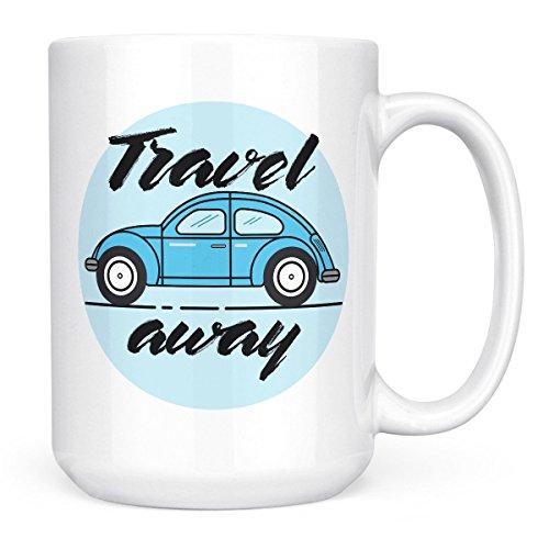 Car Mug Vintage beatle mug-White ceramic mug 15oz Novelty coffee Mug 1 Piece-By Loud Universe