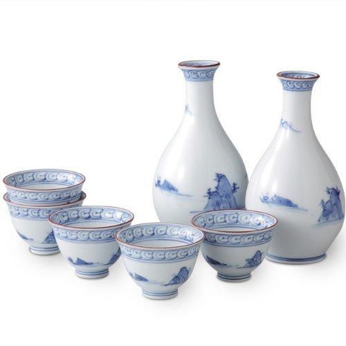 Arita yaki CtoC JAPAN Sake setSake bottle x2pc Cup x2pcs Porcelain SizecmDiameter 67x125Diameter 57x4 ca249360