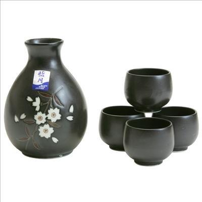 Japanese Sake Set blk ume