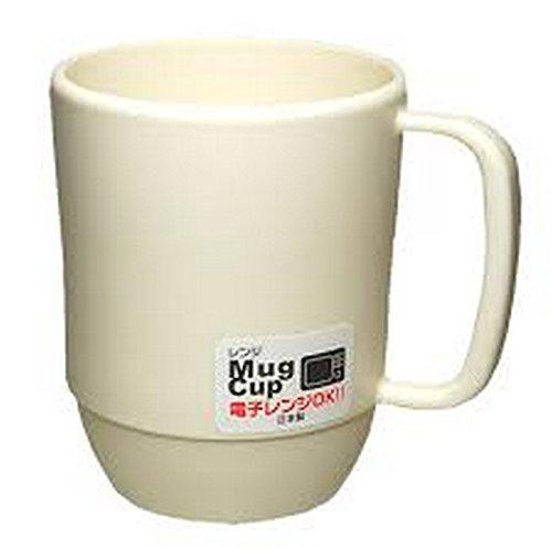 JapanBargain S-3090 Japanese Plastic Microwavable Water Mug 12 oz White
