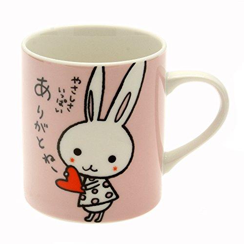 Kotobuki Japanese Mug Bunny Says Your Kindness is Appreciated Pink
