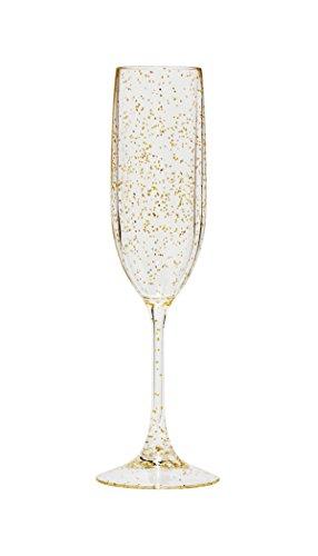 Diligence4us TRS-0705G Tritan Sparkle Champagne Flute Set of 4 Gold