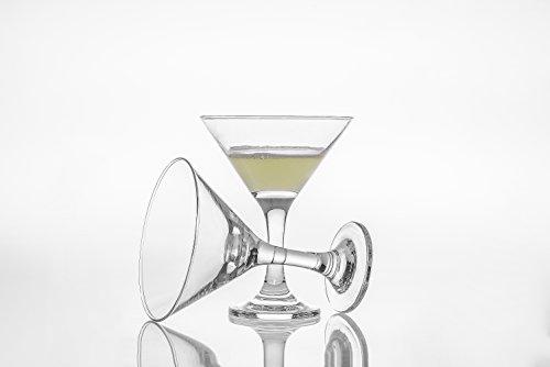 Martini Glasses Set of 6 6 14 oz Shatter Resistant Stemware Elegant Glassware Clear