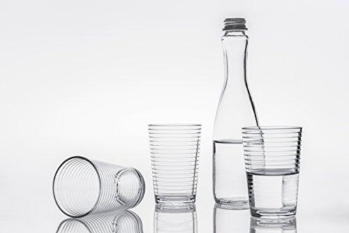 Tumbler  Water Glasses Set of 6 6 34 oz Shatter Resistant Drinkware Elegant Glassware Clear