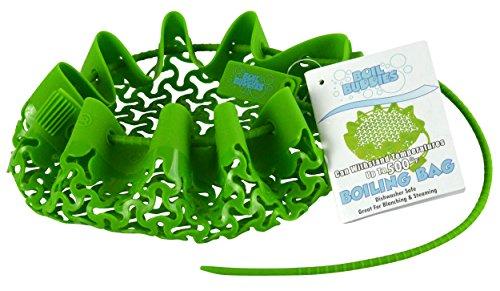 Southern Homewares Sh-10082 Boil Buddies Silicone Mesh Boiling Bag/basket Steamer