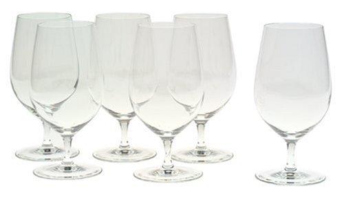 Riedel Vinum Gourmet Lead-Free Crystal Soft DrinkWater Glass Set of 6