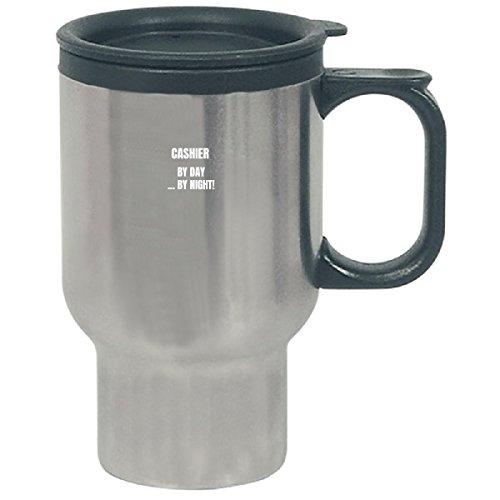 Cashier By Day At Night Job Title New conso-short - Travel Mug