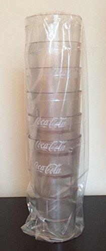 New 6 Coke Coca Cola Restaurant Clear Plastic Tumblers Cups 32 oz Carlisle