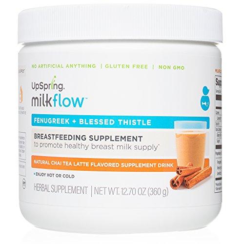 UpSpring Milkflow Fenugreek  Blessed Thistle Chai Tea Latte Powder Drink Mix 24 Servings